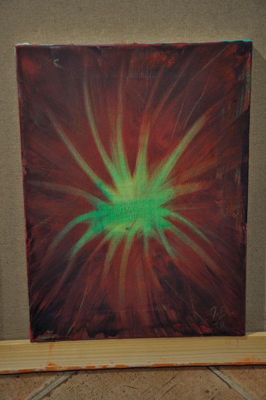 40x60 Roža akril-platno 10 Blaž Janežič
