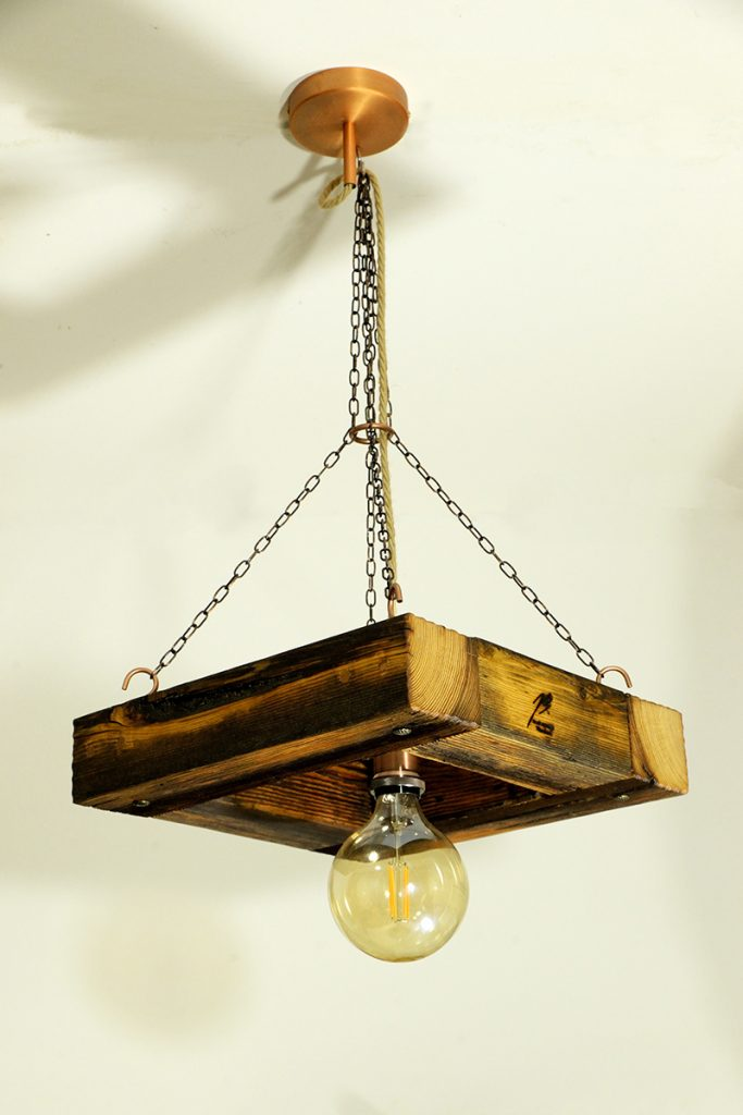 Blaž Janežič Woodwork art Ceiling lamp 1a