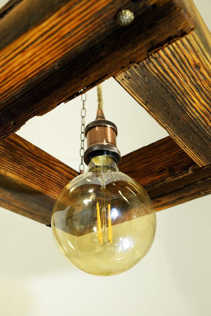 Blaž Janežič Woodwork art Ceiling lamp 1b