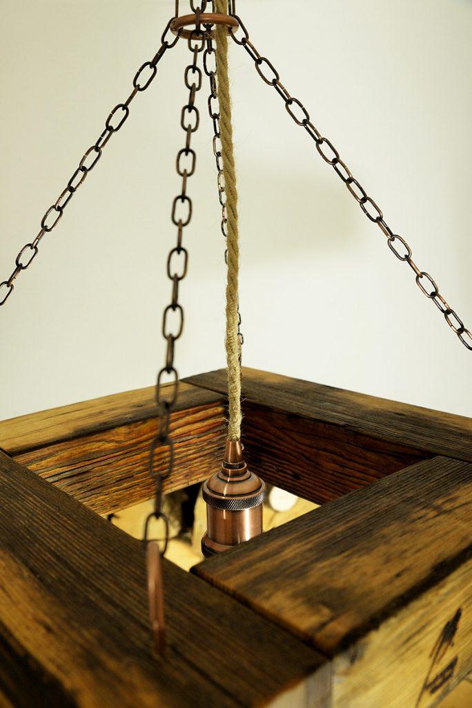 Blaž Janežič Woodwork art Ceiling lamp 1c